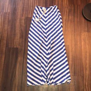 Blue and white stripe Maxi skirt ☀️
